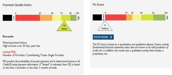 Payment Quality Index (PQI Score) and PG Score
