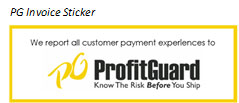 Profit Guard Invoice Sticker